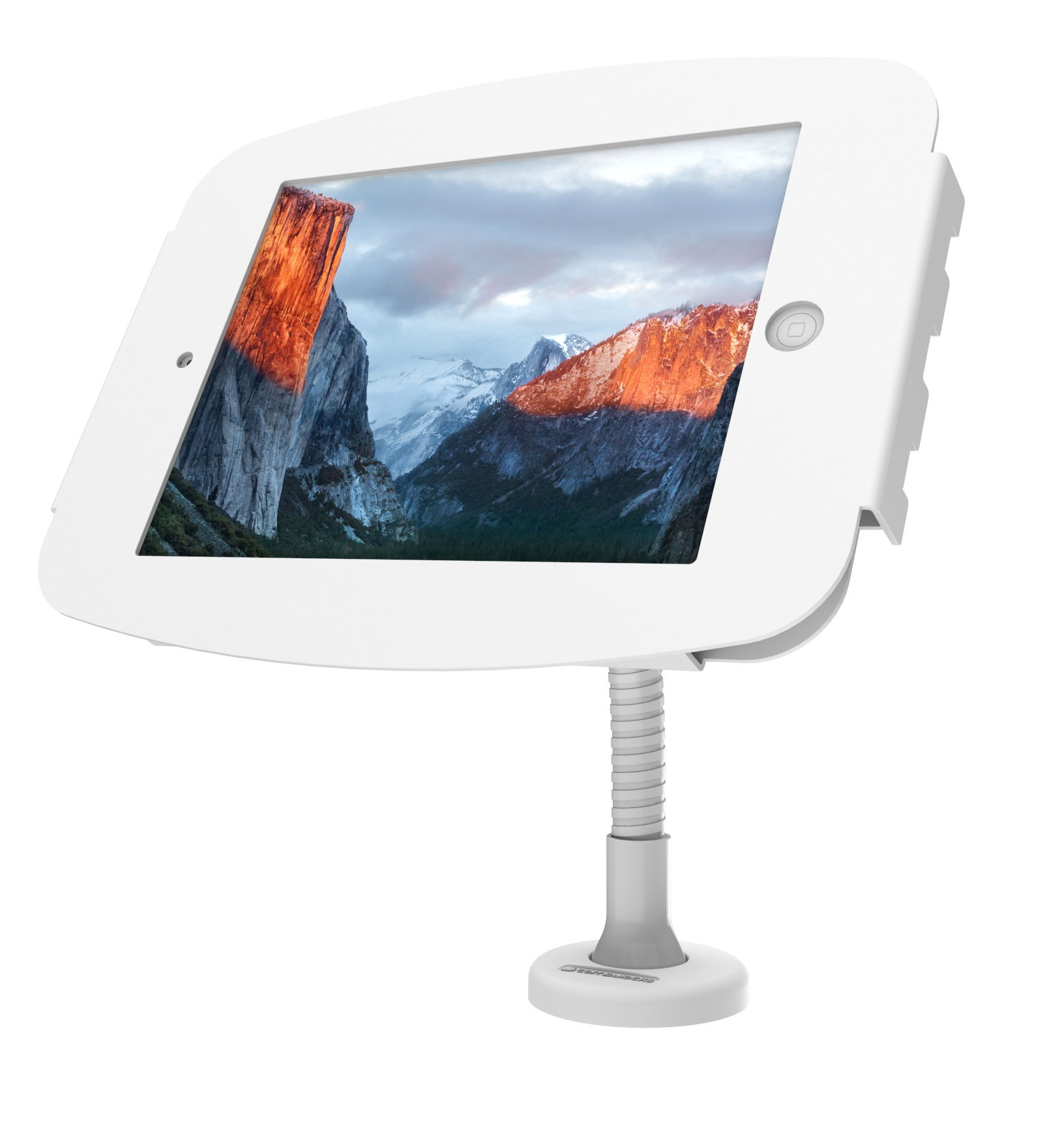 Maclocks 159W290SENW Space Enclosure With Flexible Arm for iPad Pro 12.9 (White)