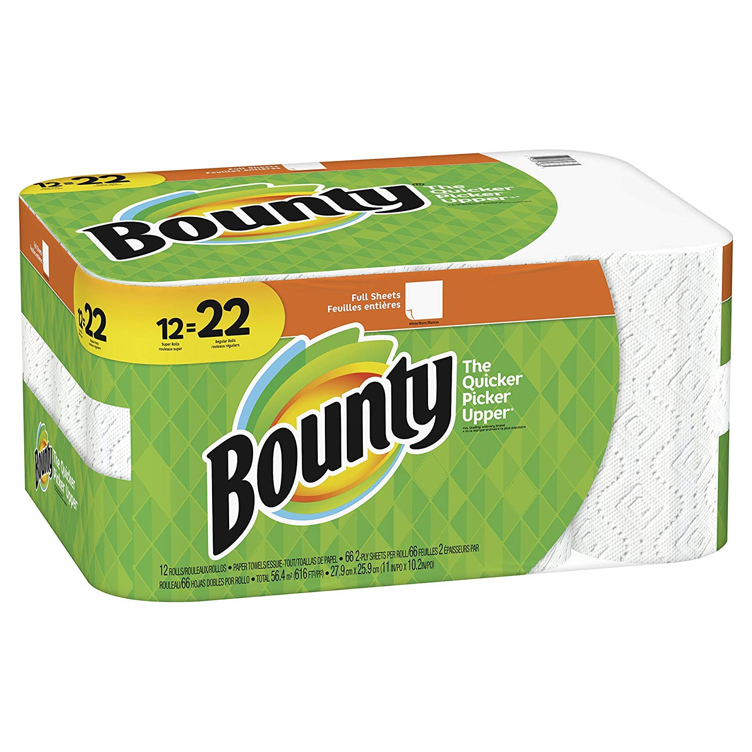 Amazon.com: Bounty White Paper Towels, 2-Ply, 12 Super and 22 Regular Rolls: Kitchen & Dining