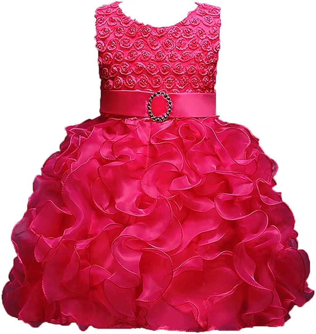Camidy 2-6T Girls Sleeveless V-Back Bowknot Pineapple /& Floral Dress Summer Sundress