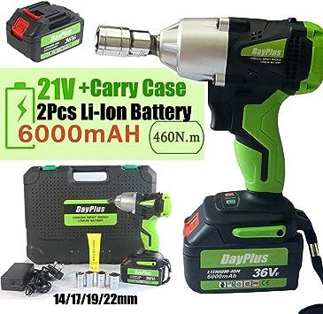 21V Li-Ion Battery Cordless Impact Wrench 6.0Ah Home Power Tool 460Nm Torque