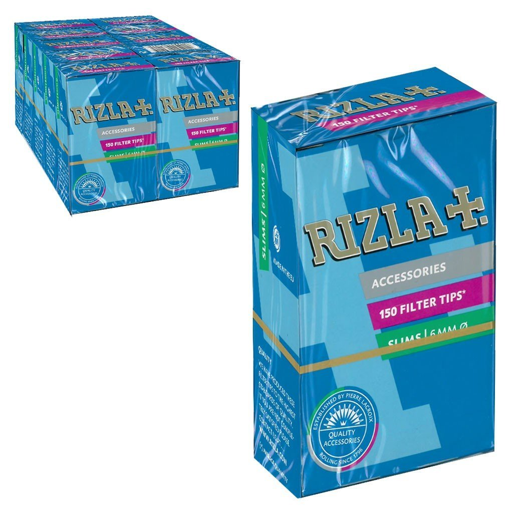 150 count Rizla Slim Cigarette Filter Tips pack of 10