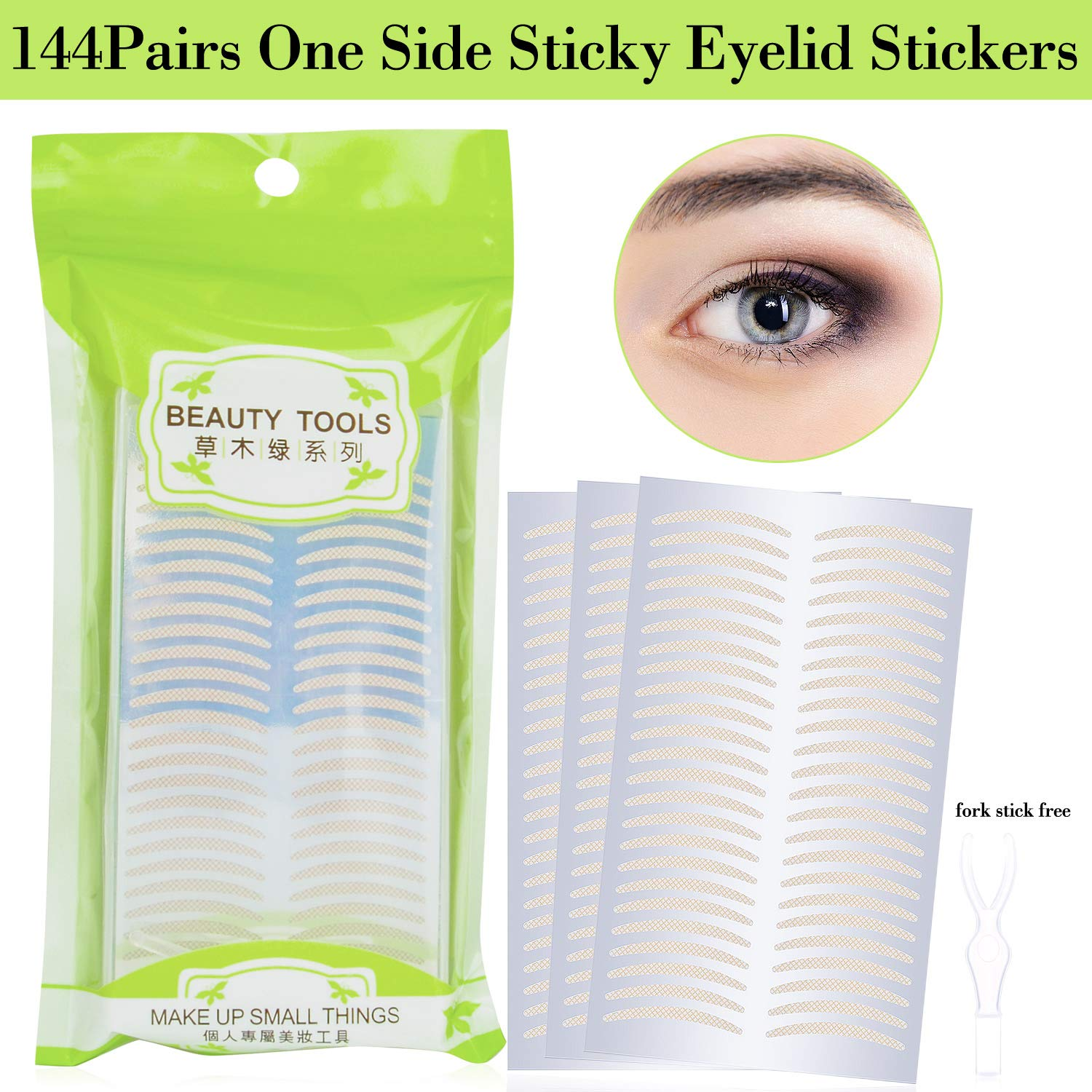 Breathable Single Side Sticky Double Eyelid Tape Paste Stickers Medical Grade Latex Free Eyelid Lift Tapes Perfect for Hooded, Droopy or Mono-eyelids (Slim) Pormasbenzer