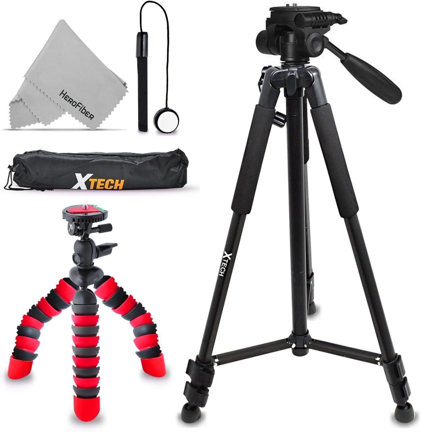 "Xtech Double Tripod Kit with 72"" Inch Tripod + 12"" Flexible Tripod for Canon Powershot SX730 HS, SX620 HS, SX720 HS, SX710 HS, SX610 HS, G9 X Mark II, G7 X Mark II, SX540 HS, SX42"