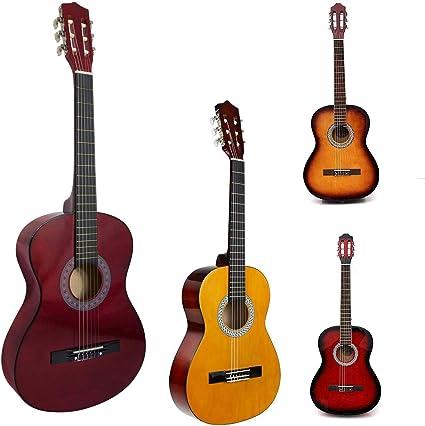 Guitarra acústica de tamaño completo natural de 99 cm, 4/4, para ...