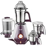 Preethi Taurus MGA 217 750-Watt Mixer Grinder with 4 Jars (White/Dark Violet)