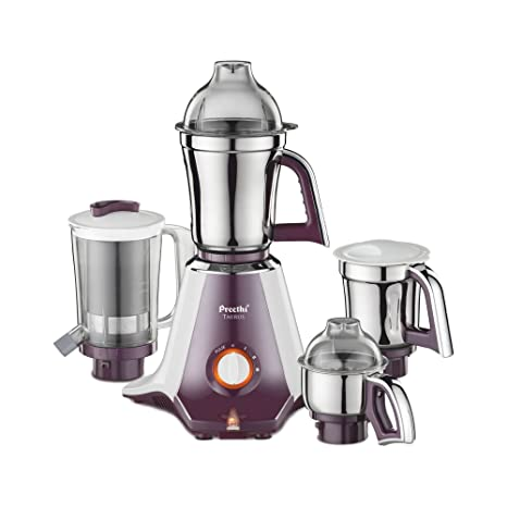 1362856855b6d Buy Preethi Taurus MGA 217 750-Watt Mixer Grinder with 4 Jars (White Dark  Violet) Online at Low Prices in India - Amazon.in