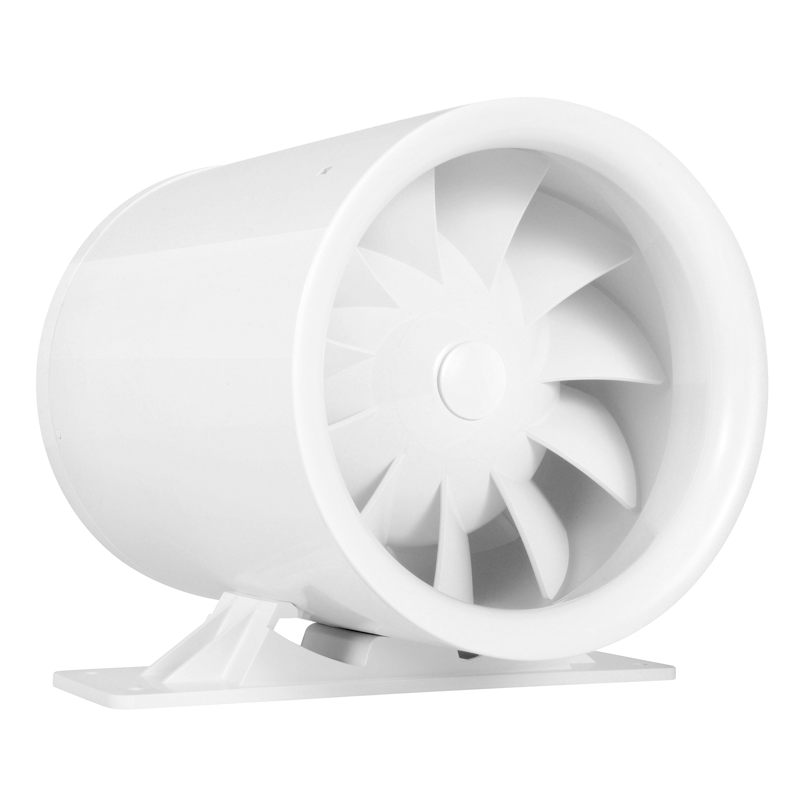 6'' Silent Inline Duct Fan, 26W, 188 CFM, Quiet Mixed-Flow Energy Efficient Blower for Air Circulation in Ducting, Vents, Grow Tents