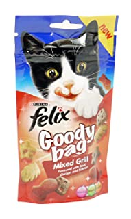 Felix Goody Bag Cat Treats–campo mezcla seca–60g bolsa
