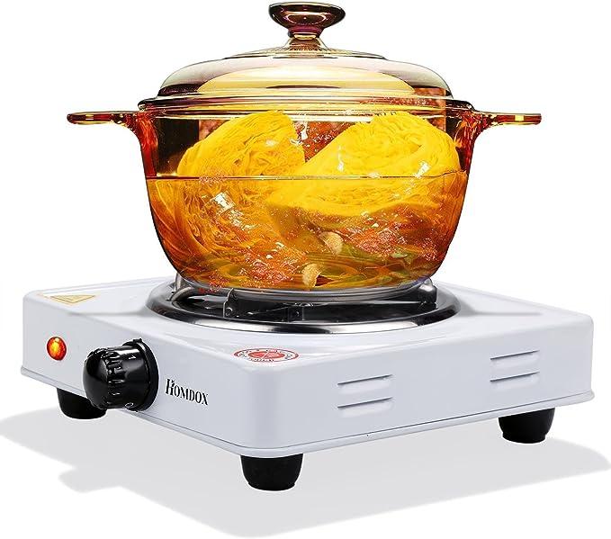 Lonlier Hornillo Eléctrico Gas Cocina Olla Portatil Placa ...