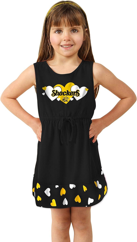 Toddler Girls No Sleeve Heart Dress