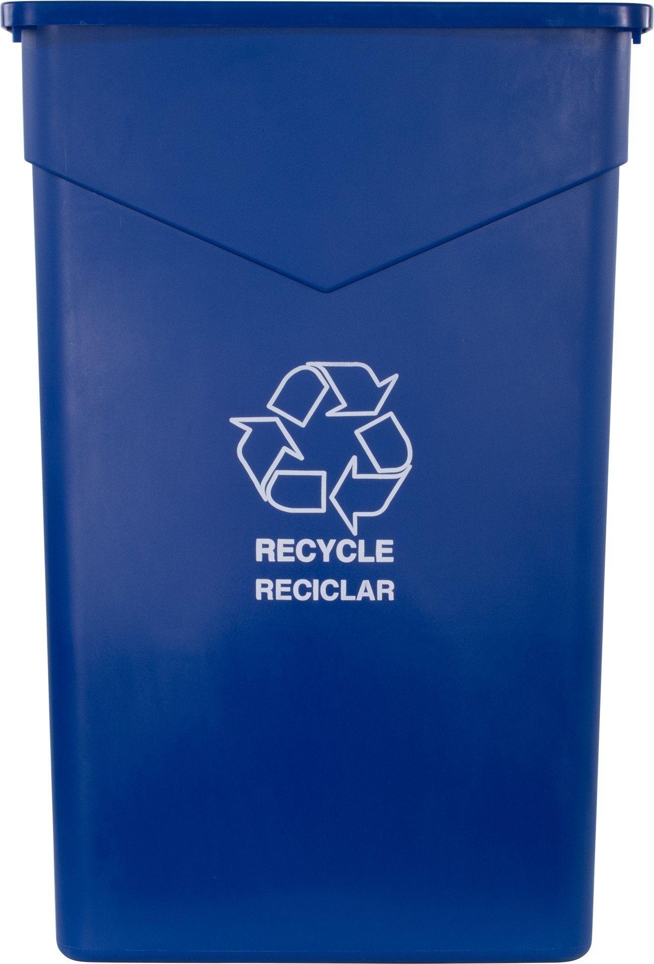 Carlisle 342023REC14 TrimLine LLDPE Recycle Can, 23 Gallon Capacity, 20'' Length x 11'' Width x 29.88'' Height, Blue by Carlisle (Image #2)