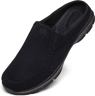 Zapatillas de Casa Mujer Hombre Zuecos de Algodón Comodas Transpirable Casual Pantuflas Exterior y Interior