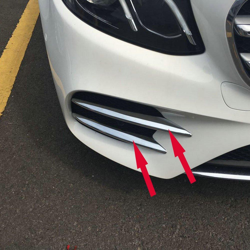 Chrome Front Corner Mesh Grill Molding Cover Trim Fit For Mercedes-Benz New E-Class W213 E300 Sedan Sport 2017 2018 2019