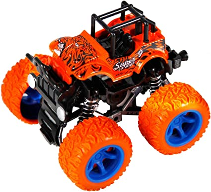 Amazon Com Pbox Monster Trucks Friction Powered Cars For Kids Toddler Toys Inertia Car Toys For 2 3 4 5 Year Old Boys Girls Toys Games