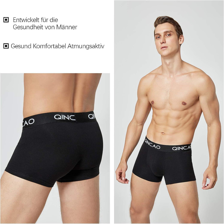 QINCAO Boxershorts Herren Retroshorts 5er-Pack//8er-Pack Unterhosen M/änner Unterw/äsche Baumwolle