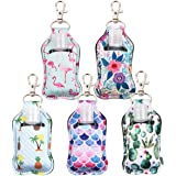 Portable Travel Bottles, 5PCS Hand Sanitizer Holder Leakproof Refillable Empty Bottles with Flip Cap for Shampoo Body Wash Li