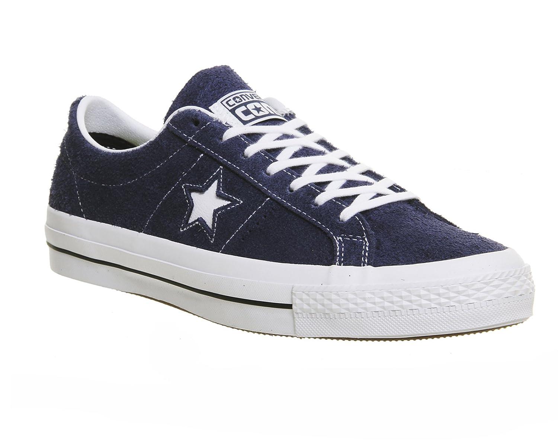 Converse One Star Skate OX Grün 149868C, Turnschuhe Navy Navy Navy Weiß Gum Hairy Suede 994640
