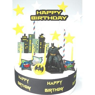 Juego de decoración para tarta de cumpleaños de Batman: Hogar