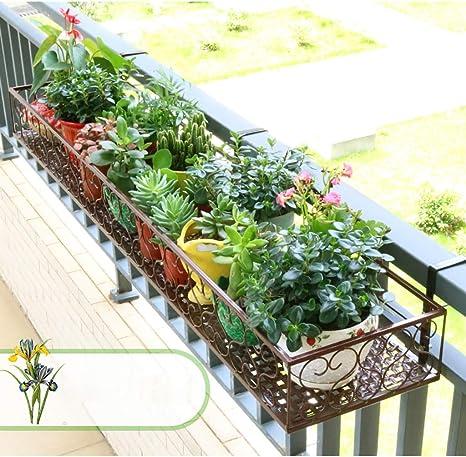 Puesto de plantas Apoyabrazos colgante soporte de flores, soporte ...