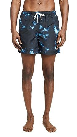 8dcfba4016 Bather Men's Print Swim Trunks, Indigo, X-Small