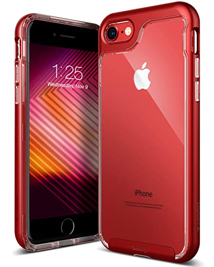 d1866cf3ff9 Amazon.com  Caseology Skyfall for iPhone 8 Case (2017)   iPhone 7 Case (2016)  - Clear Back   Slim Fit - Red  Cell Phones   Accessories