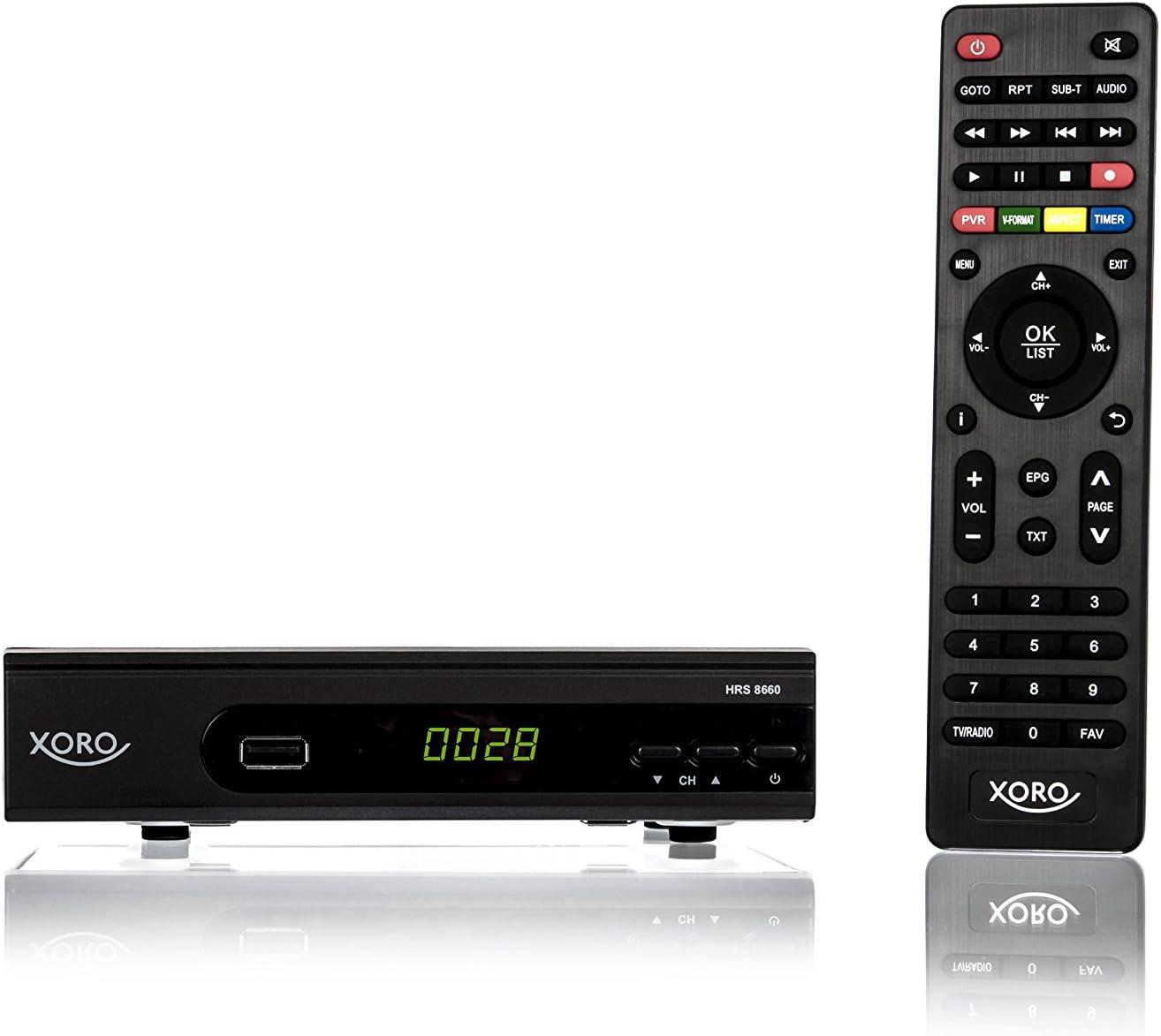 LAN Mas /électronique hrs 8660/Smart Xoro DVB-S2/r/écepteur Alexa Noir MMP USB PVR Ready