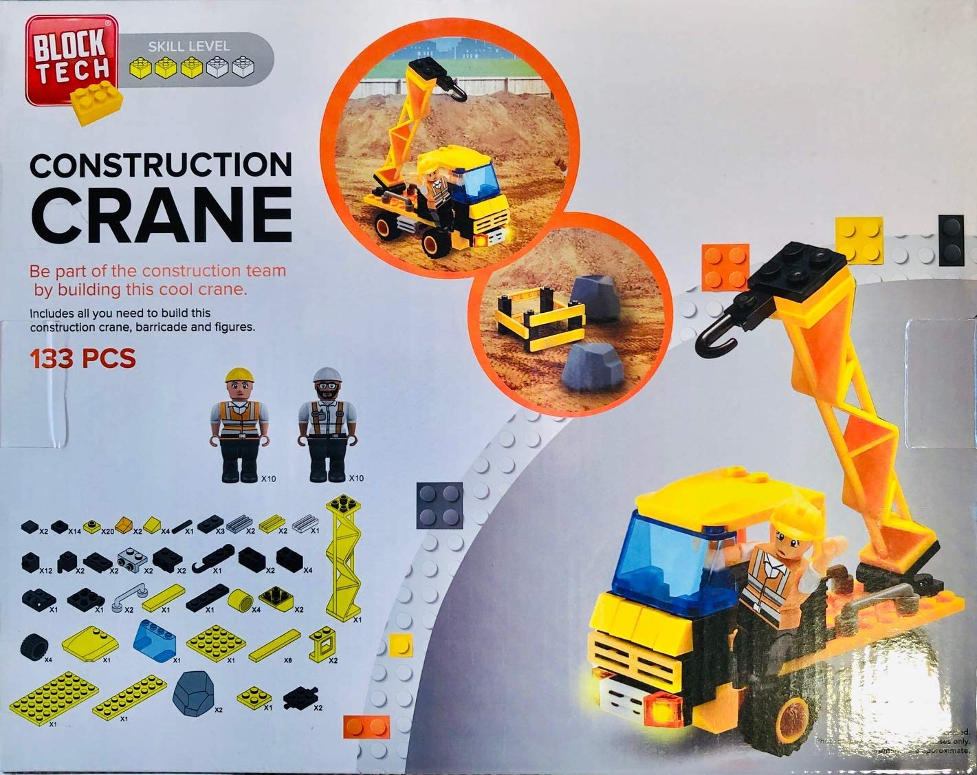 Block Tech Construction Crane