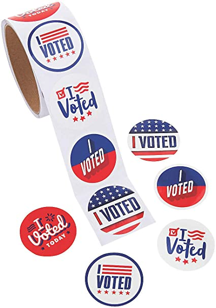 I Voted Stickers Voting Supplies Bulk 1000 Pieces