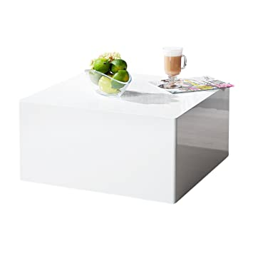 Invicta Interior Puristischer Design Couchtisch Monobloc L Weiss