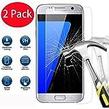 2 Pack - Samsung Galaxy S7 Verre Trempé, FoneExpert® Vitre Protection Film de protecteur d'écran Glass Film Tempered Glass Screen Protector Pour Samsung Galaxy S7