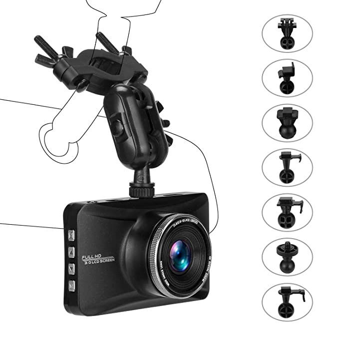aukey dash cam hd 1080p real view rotatable car dvr with. Black Bedroom Furniture Sets. Home Design Ideas