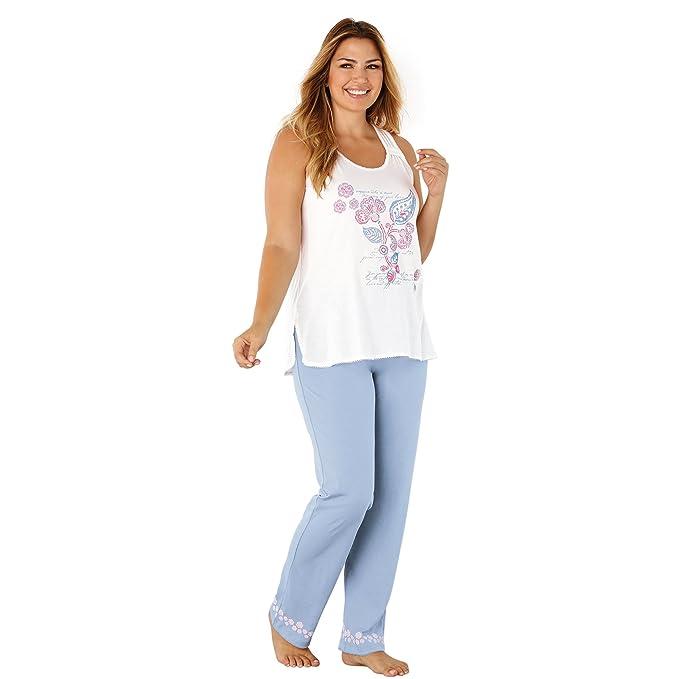 VENCA Pijama Camiseta sin Mangas con Detalle de pasamanería en los Tirantes by Vencastyle: Amazon.es: Ropa y accesorios