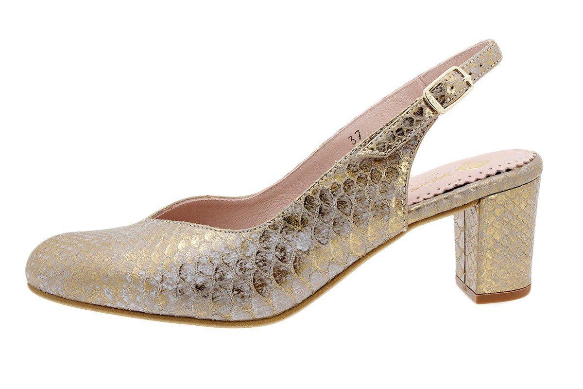 PieSanto Salón Grabado Nude 180229 Zapato Confort 37 EU|Serpiente Oro