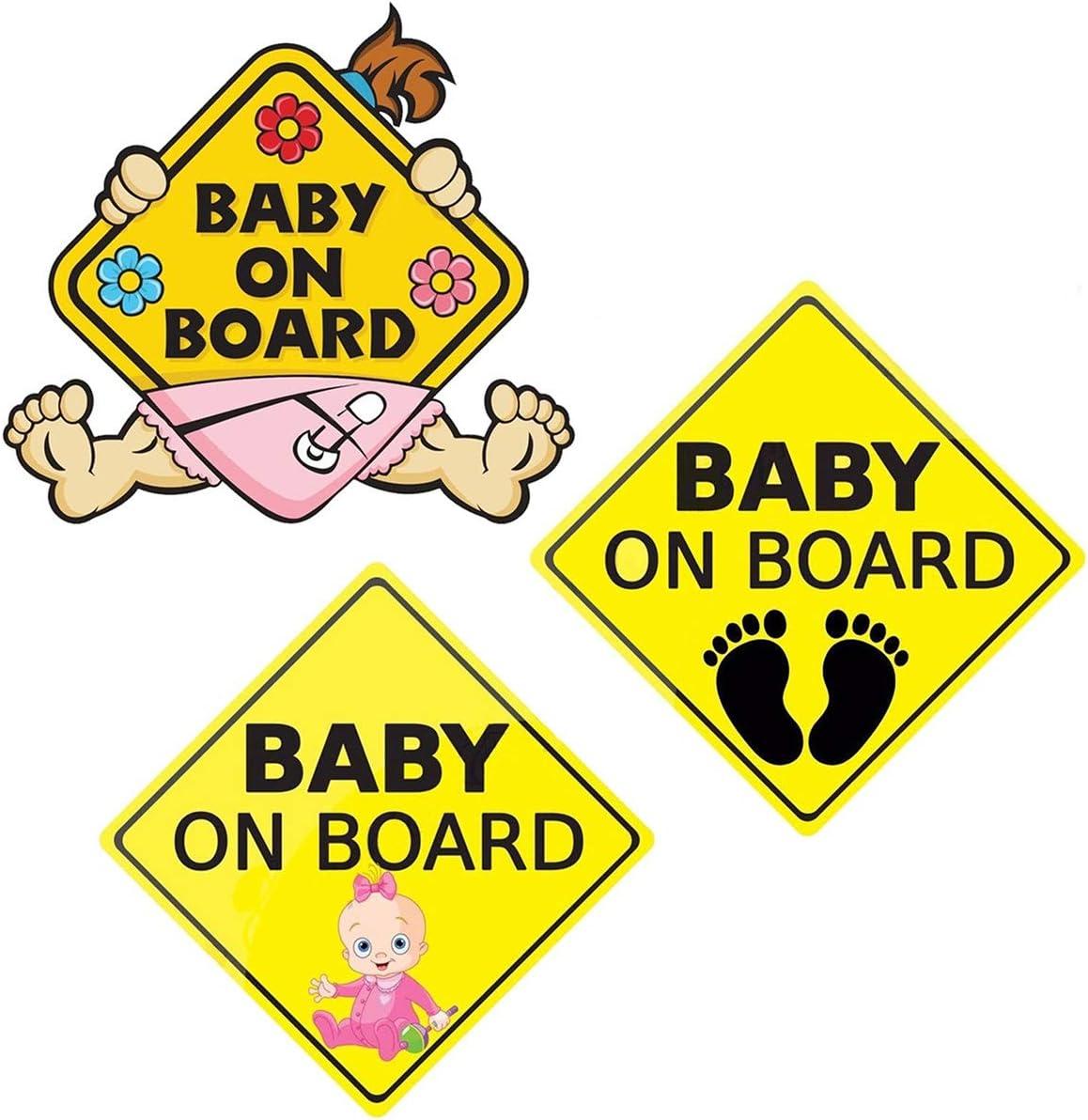Offerta – Borlai Baby Auto Adesivo di Sicurezza Autoadesivo Impermeabile Durevole (1/2 Pezzi opzionali),