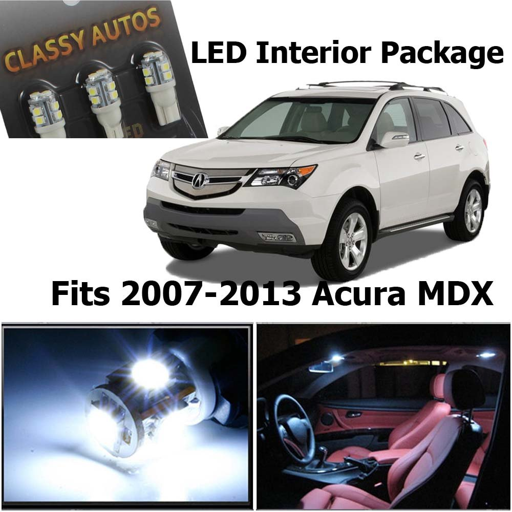 Acura MDX White Interior LED Package (13 Pieces) Classy Autos