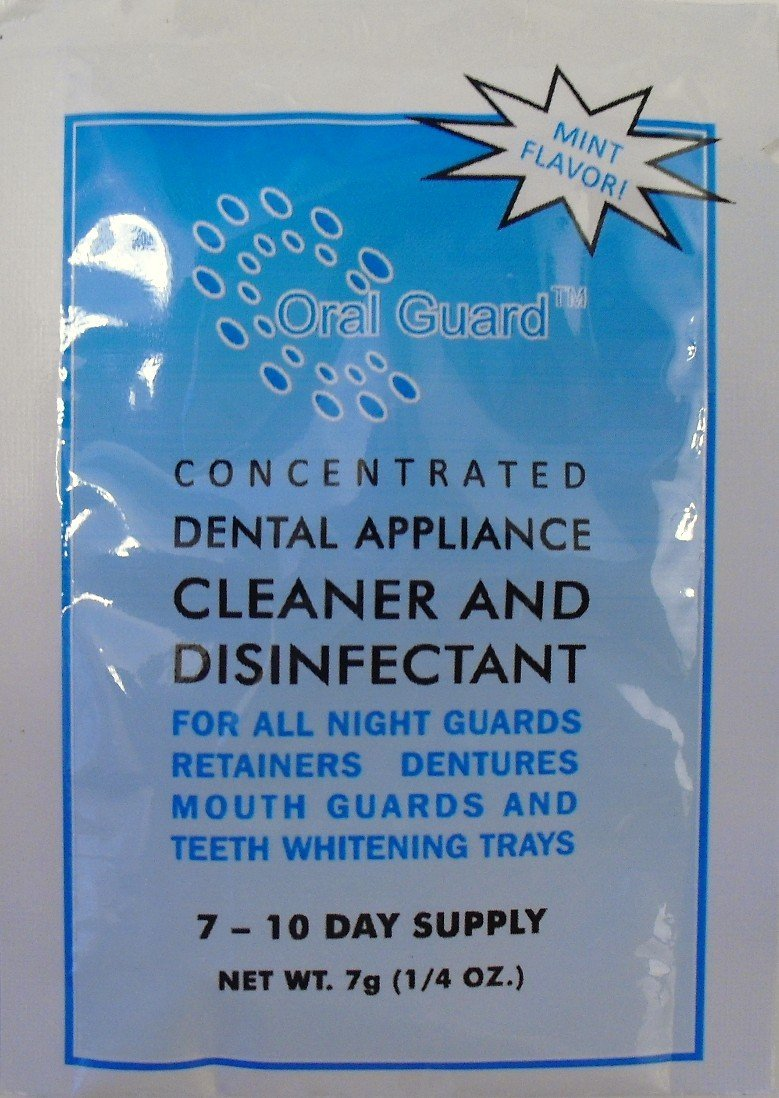Oral Guard Dental Appliance Cleaner and Disinfectant for All Night Guards, Retainers and Dentures. 6 Month Supply