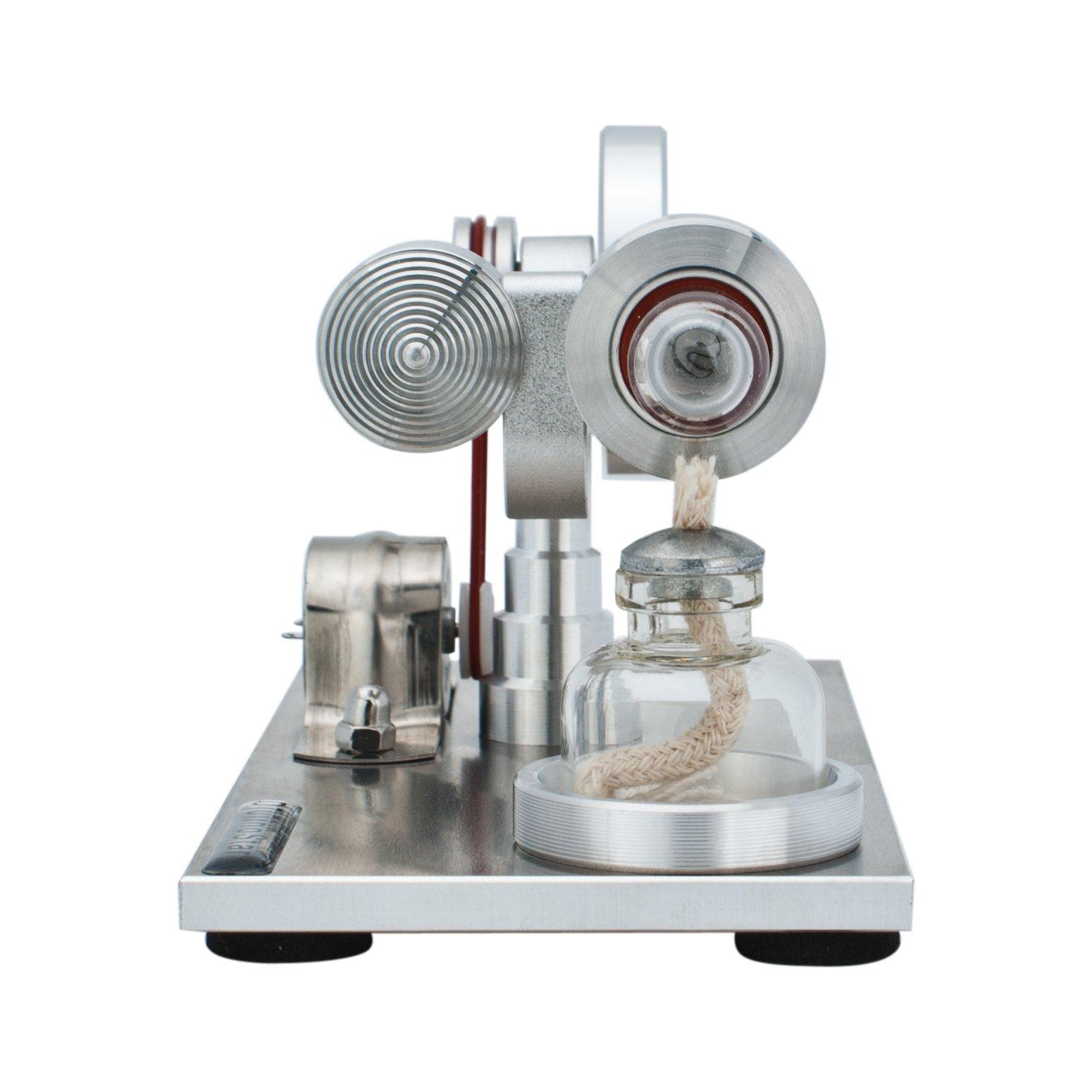 DjuiinoStar Hot Air Stirling Engine, Solid Metal Construction, Electricity Generator(Assembled), My First Stirling Engine by DjuiinoStar (Image #5)