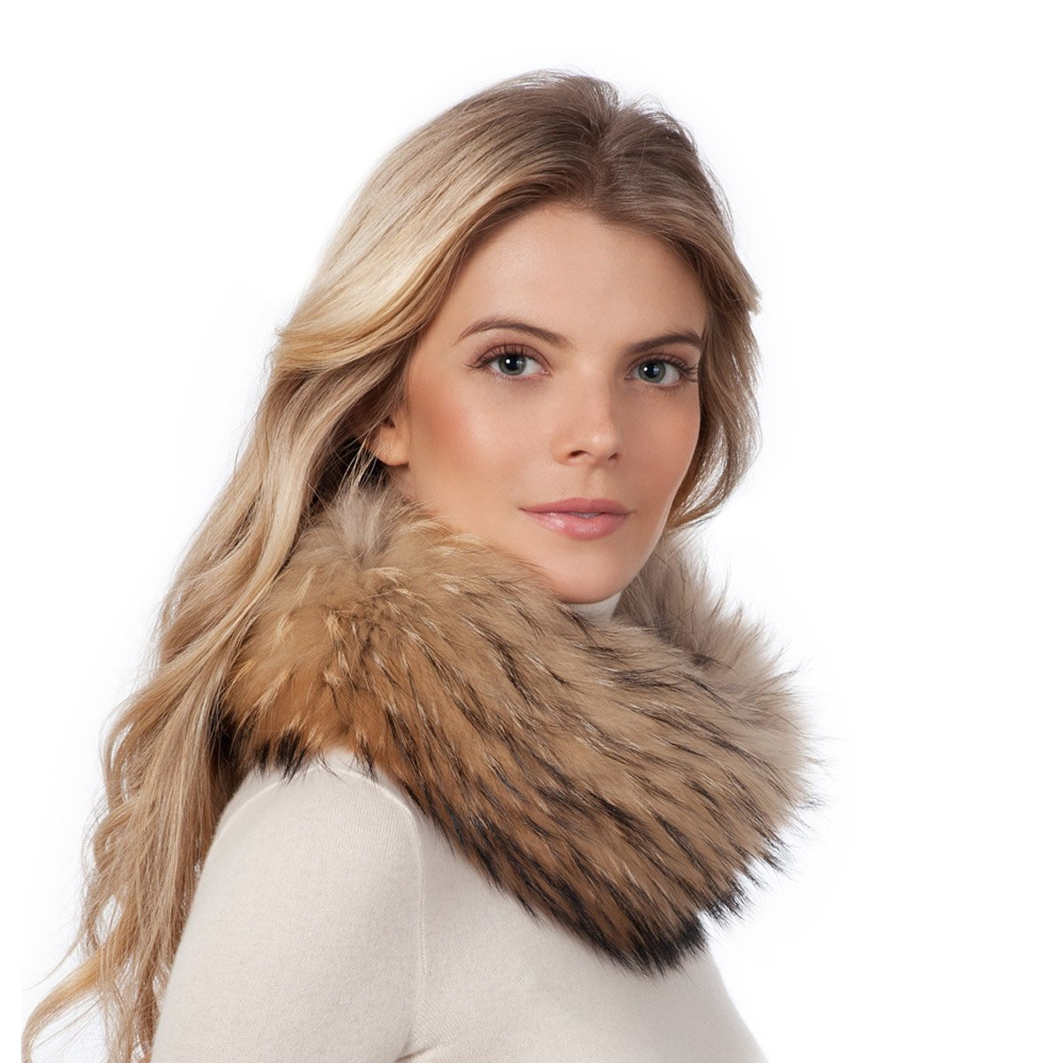 Eric Javits Luxury Fashion Designer Women's - Fox Fur Loop - Natural