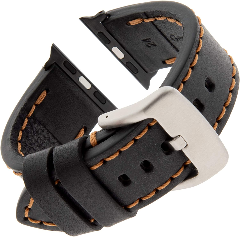 Gilden for Apple Sport Calfskin 38mm/40mm 42mm/44mm Leather Watch Strap TS62-SMART