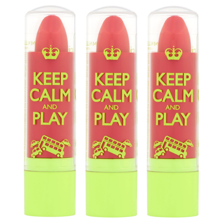 (3 Pack) Rimmel I Love My Lips Lipbalm, Keep Calm and Play, ROSE BLUSH