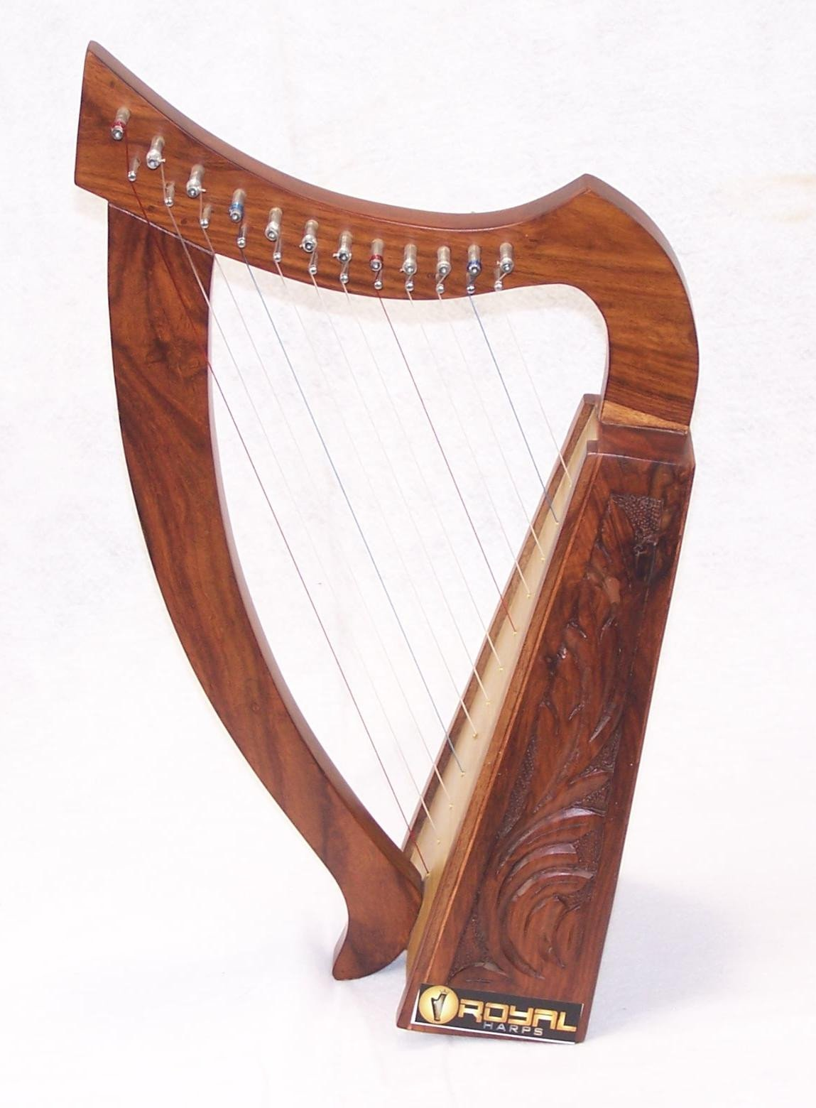 12 String Harp Celtic Design 24'' TALL Extra Strings Tuner Carrying Case New