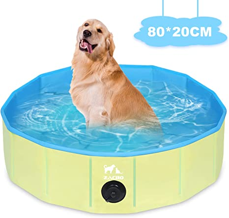 Zacro Piscina Plegable para Perros para Niños/Mascotas Perros ...
