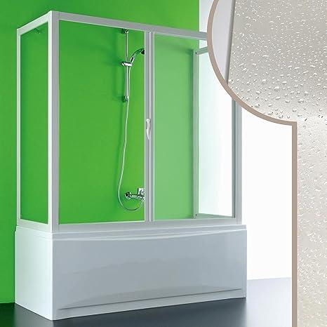 Forte Mampara de bañera 3 Lados 70x140x70 CM in Acrílico Mod ...