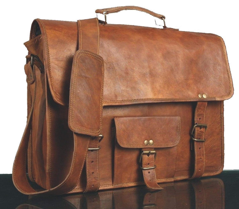* * * * * * * * classydesigns * * * * * * * * Unisexe 100% cuir véritable sac à bandoulière en cuir véritable pour sacoche pour ordinateur portable Sacoche...