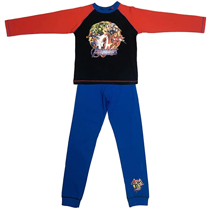 Boys Marvel Avengers Red & Blue Snuggle Fit Pyjamas 4-5 Years