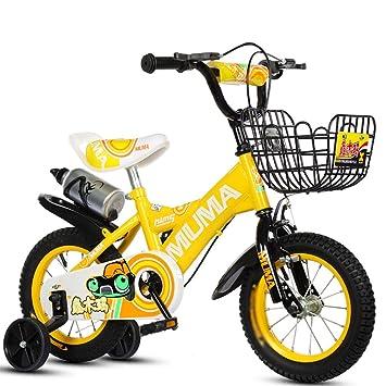 Bicicletas infantiles, con hervidor adecuado para niños y niñas con rueda auxiliar de acero de