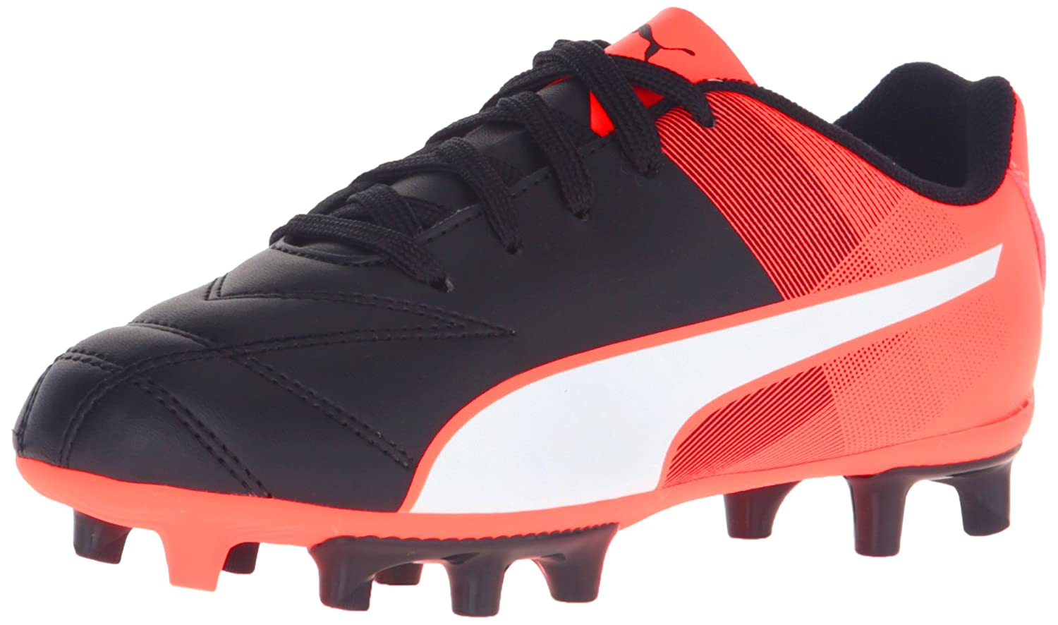 PUMA Adreno II FG Jr Soccer Schuhe (Little Kid Big Kid), schwarz Weiß,5.5 M US Big Kid