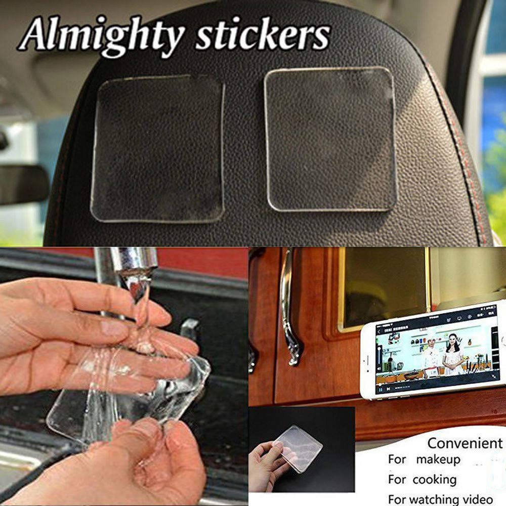 Efaster 5 Pcs/ 10 Pcs/ 15 Pcs/ 20 Pcs Grip Sticky Anti Slip Pads New Kitchen Car Holder Super Easy Gripping Pad PU Gel Pad Sticker Non Slip Super Sticky Pad (20 Pcs)
