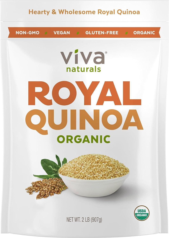 Viva Naturals Organic Quinoa, 100% Royal Bolivian Whole Grain, 2 lb Bag