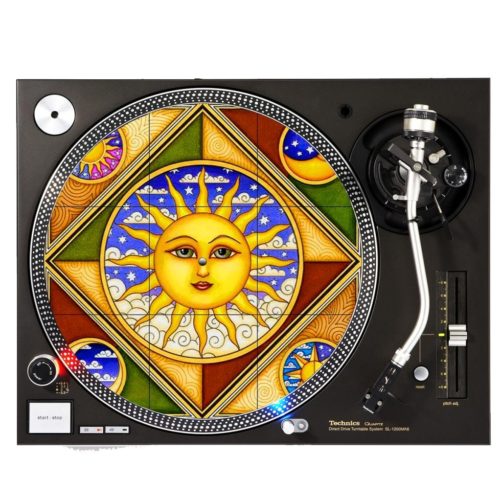 Pizza - DJ Slipmat Sunshine Design Cases Slipmat-93